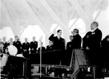 Juramentación del Dr. Arnulfo Arias como presidente de la República en 1940