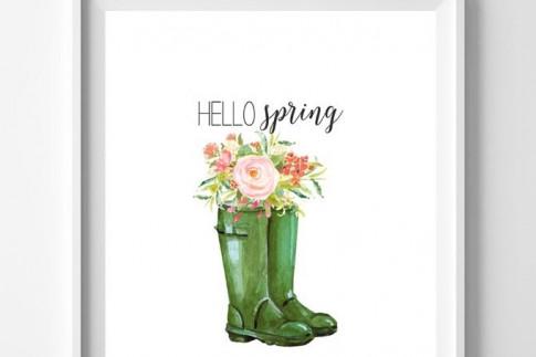 Free art: ten pretty spring printables