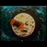 A trip to the moon, hand colored