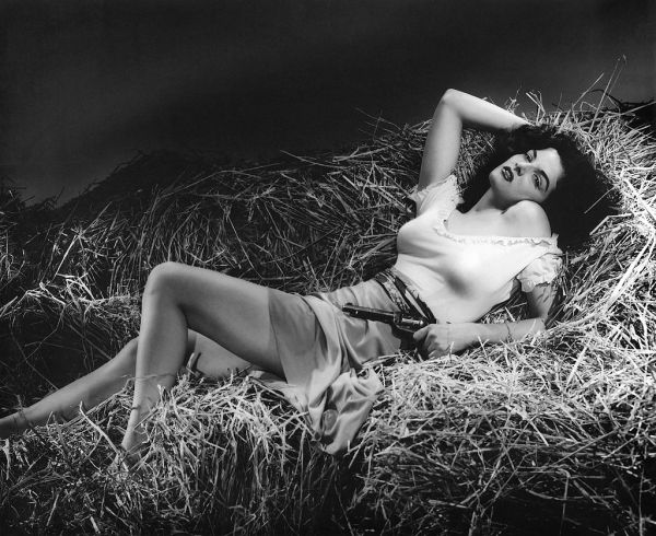 The Outlaw (1943), directed by Howard Hughes and starring Jane Russell