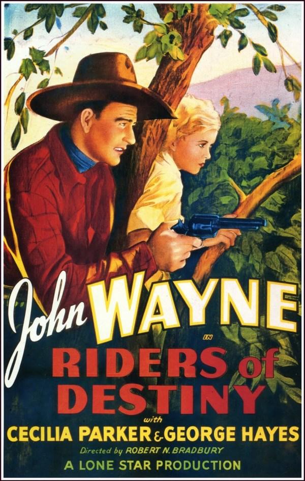 Riders of Destiny (1933), with John Wayne as a singing cowboy