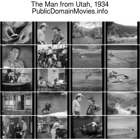 The Man from Utah, 1934 Western movie starring John Wayne