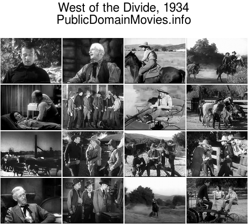 West of the Divide, 1934 starring John Wayne