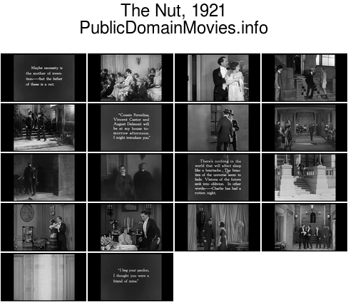 The Nut, 1921 starring Douglas Fairbanks