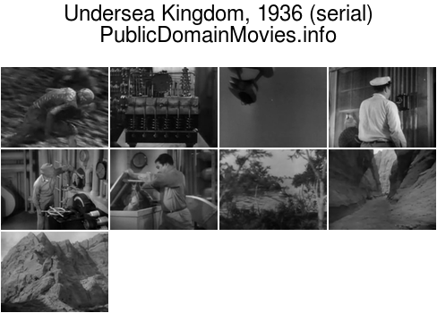Undersea Kingdom, 1936 (serial) Chapter 1: Beneath the Ocean Floor