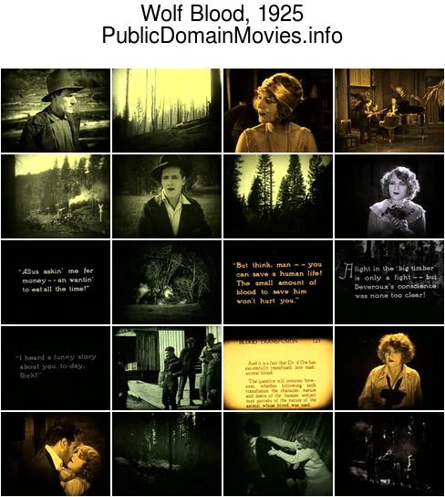 Wolf Blood, 1925