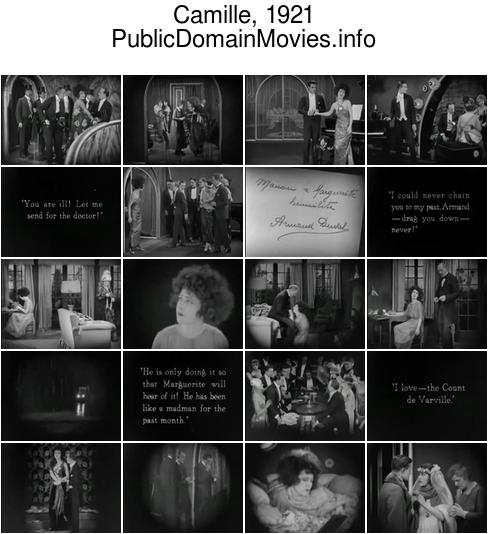 Camille, 1921 film starring Alla Nazimova and Rudolph Valentino