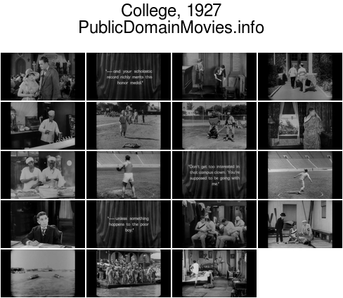 College, 1927 film starring Buster Keaton
