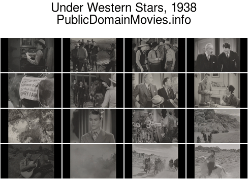 Under Western Stars, 1938 starring Roy Rogers