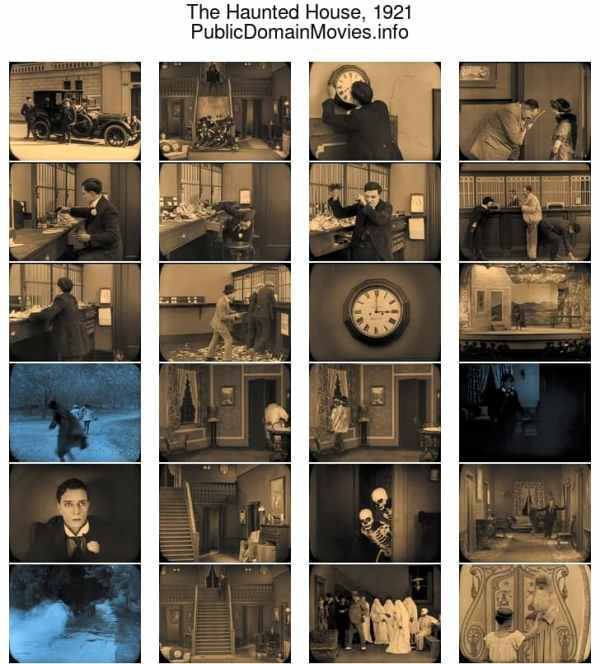 The Haunted House, 1921 starring Buster Keaton
