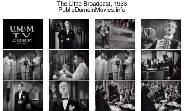 The Little Broadcast, 1933