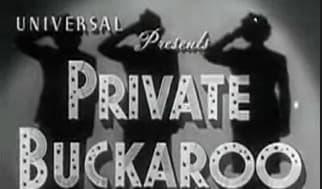 Private Buckaroo, 1942 musical