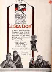 The Sea Lion, 1921