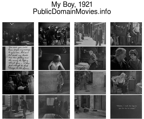 My Boy, 1921 starring Jackie Coogan