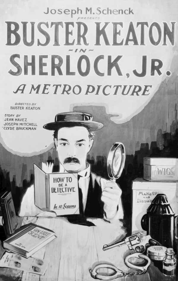 Sherlock Jr., 1924 comedy film directed by and starring Buster Keaton, 2020 PD