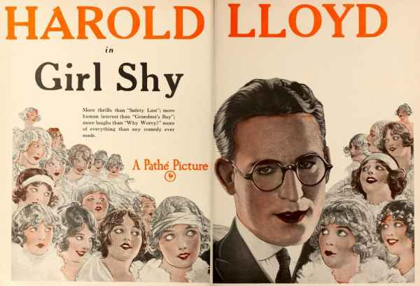 Girl Shy, 1924 romantic comedy starring Harold Lloyd