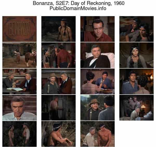 """Bonanza, season 2, episode 7: """"Day of Reckoning"""", 1960"""