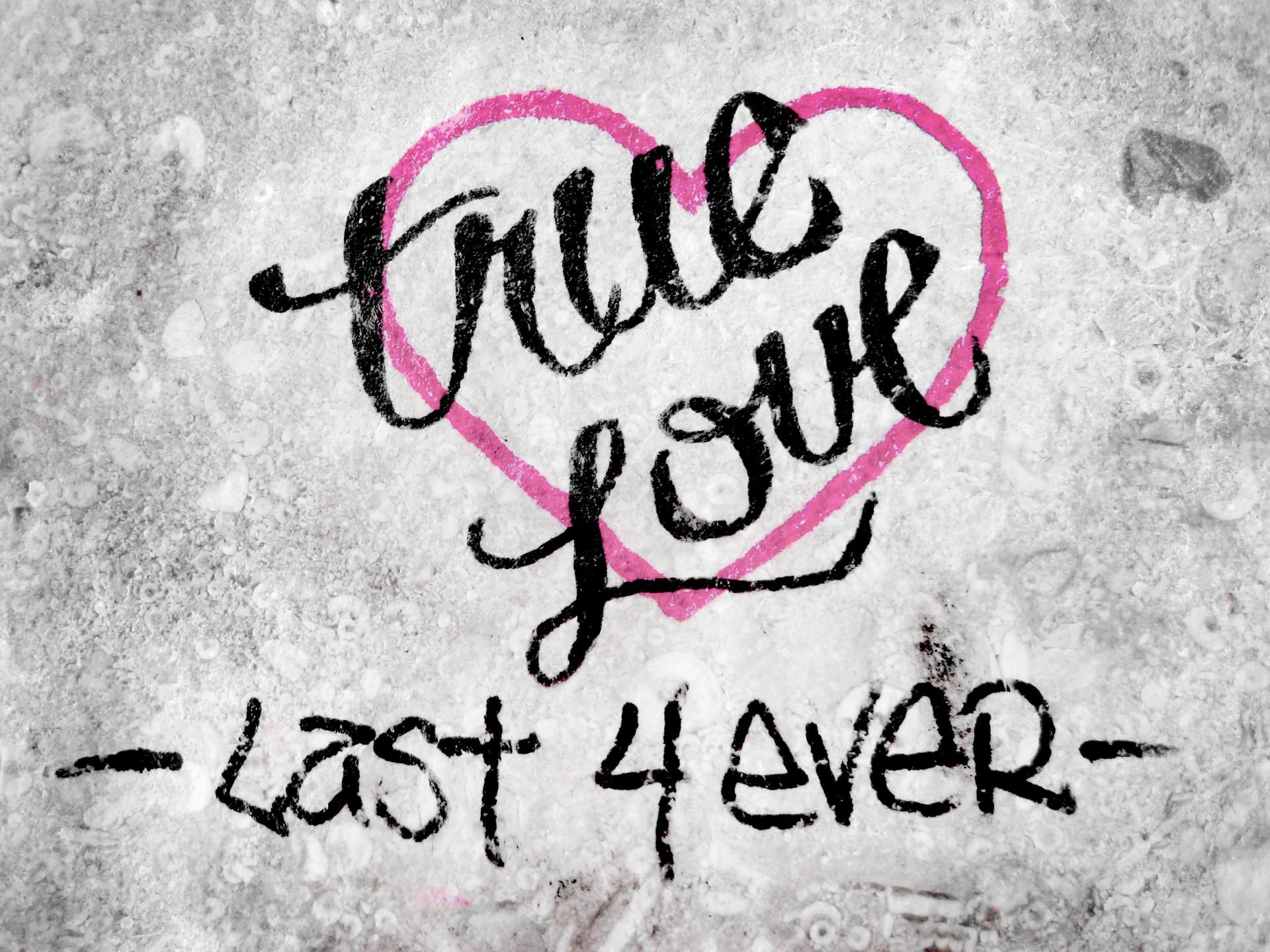 True Love Graffiti Style Free Stock Photo Public Domain