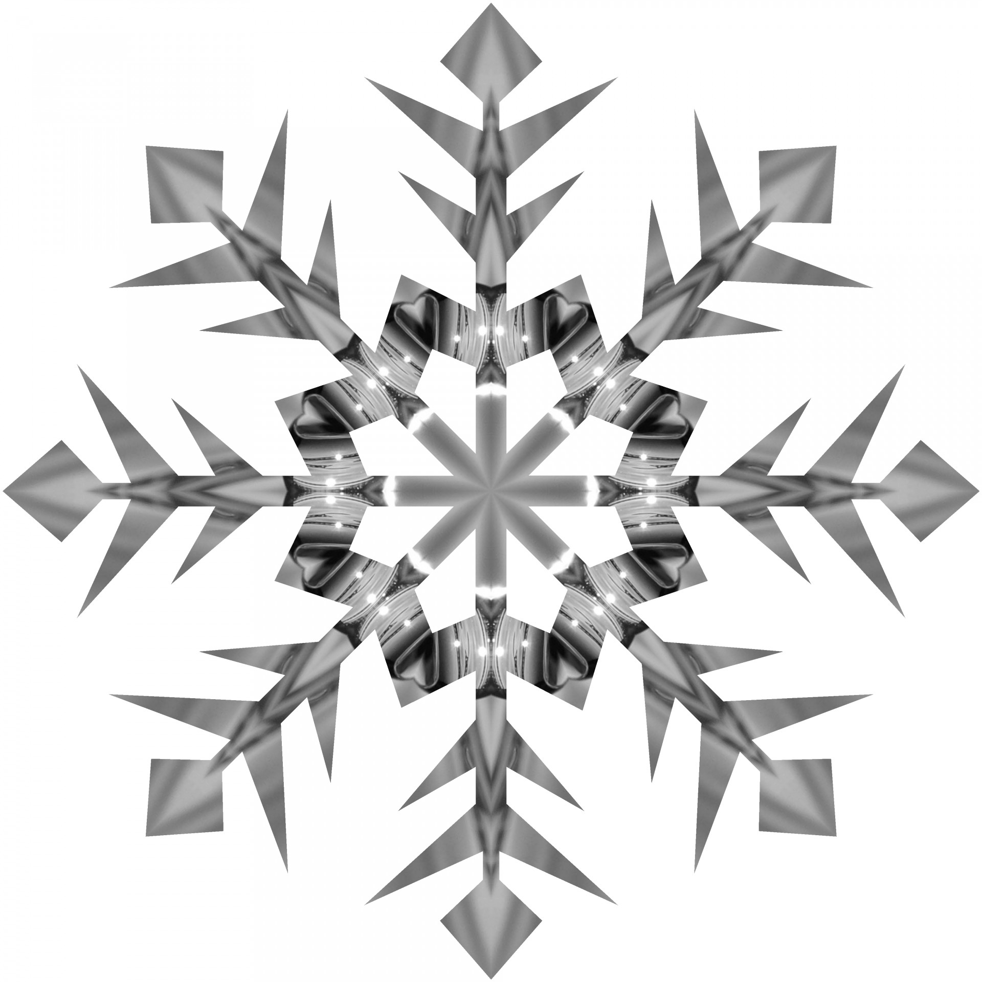 Grey Snowflake 2 Free Stock Photo