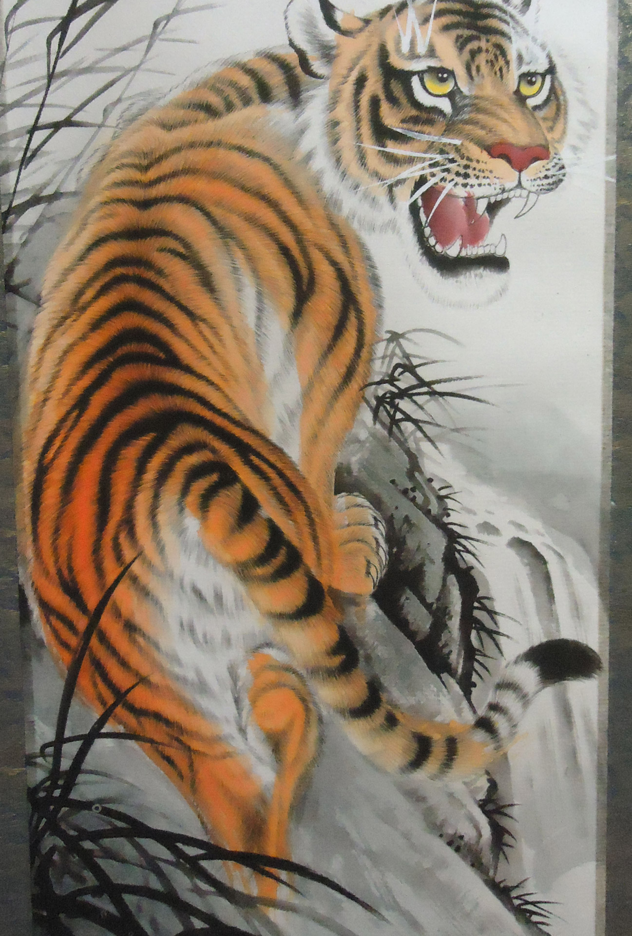 Chinese Style Tiger Art Free Stock Photo Public Domain