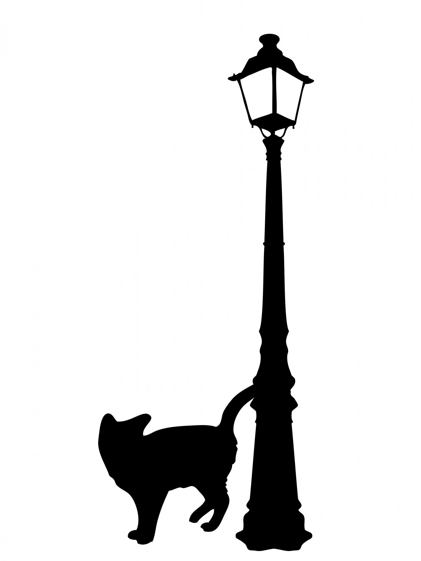 Black Cat Silhouette Clipart Free Stock Photo