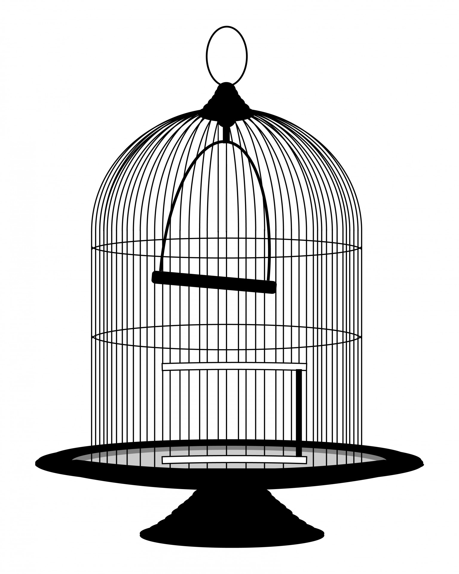 Vintage Birdcage Victorian Clipart Free Stock Photo