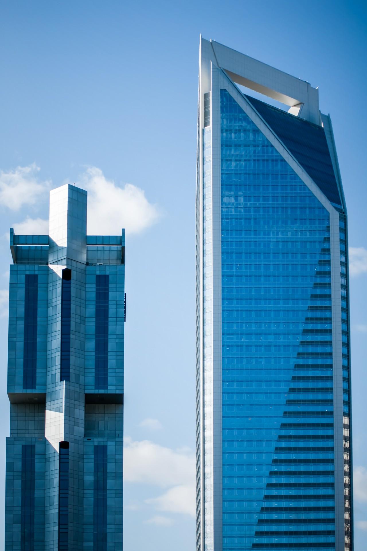 Blue Buildings Skyline Free Stock Photo Public Domain