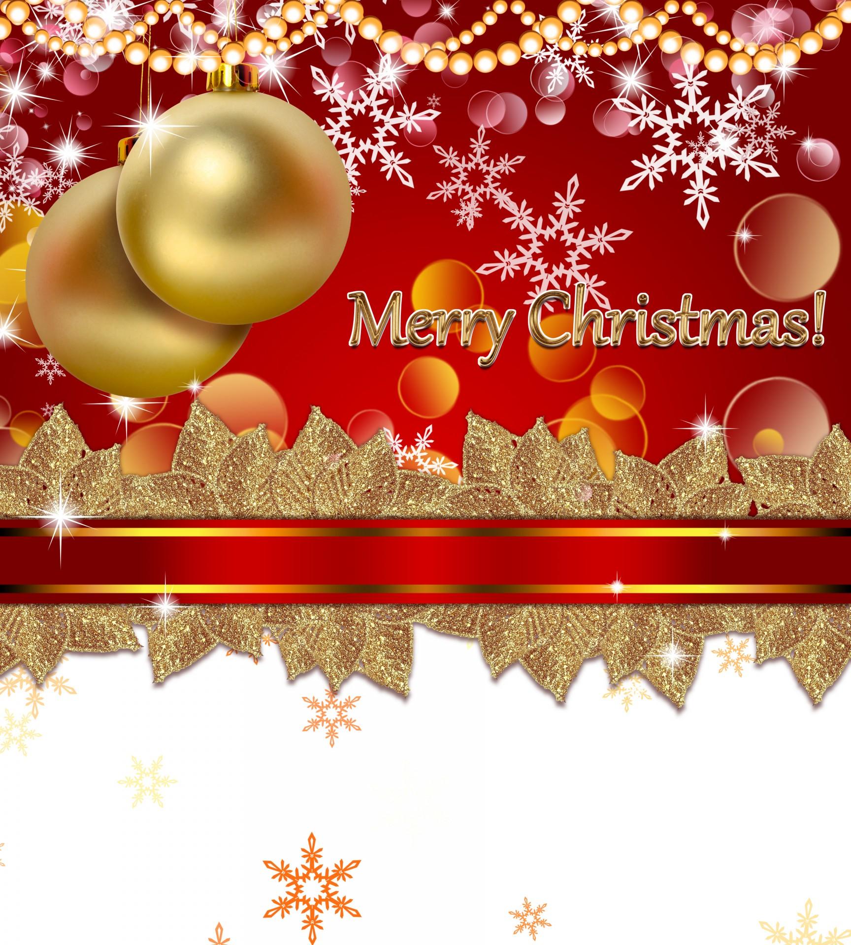 Merry Christmas Free Stock Photo