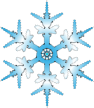 Blue snowflake vector illustration