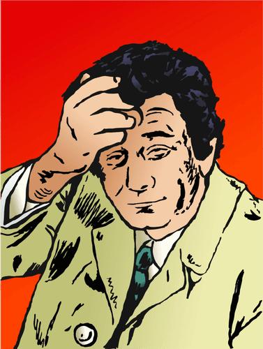 פיטר פאלק כציור הקומיקס קולומבו