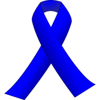 Blue ribbon vector  clip art