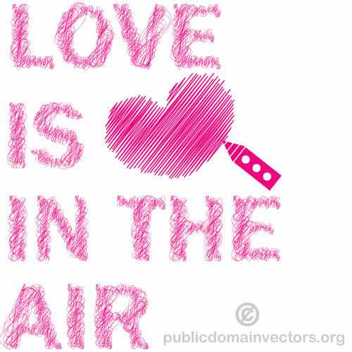 Download Love is in the air vector graphics | Public domain vectors