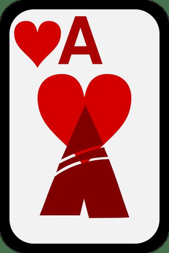 Туз сердца фанки игральные карты векторные картинки ...