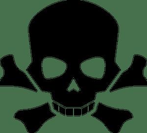 17210 Pirate Skull And Crossbones Clip Art Free Public Domain Vectors