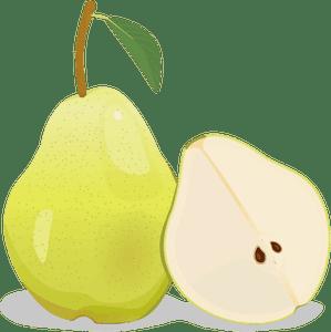 Pear half