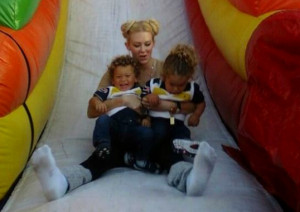 Jenna Jameson with her beautiful sons.