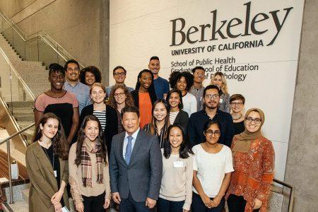 Kaiser Permanente Scholars and Winston Wong at the Scholarship Tea