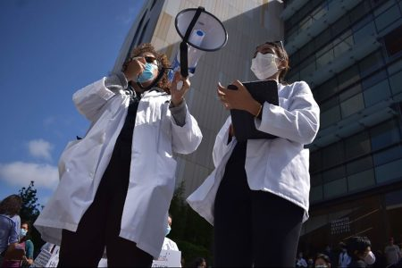 Joint Medical Program Students Come Together for WhiteCoats4BlackLives Rally