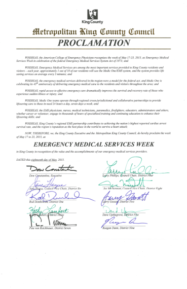Proclamation - EMS