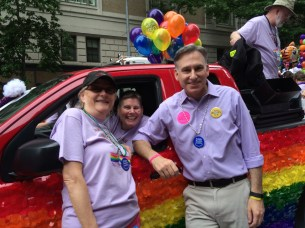 Patty Hayes, Jesse Chipps, and Dow Constantine