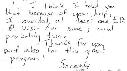 patient thank you letter