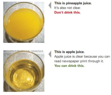 clear liquid