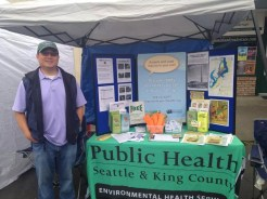 Charles Wu, manager of the King County Dirt Alert program, teaching south King County residents about how to reduce contact with arsenic and lead in the soil.
