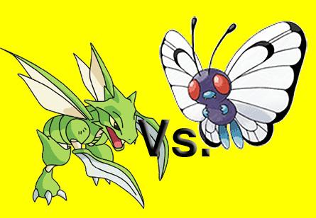Pokémon parecidos a los insectos del anuncio.