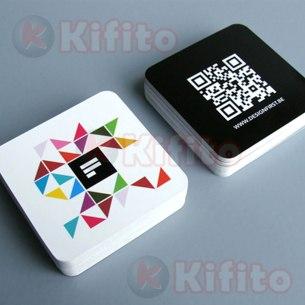 tarjetas de presentacion cuadradas dado 47875985567