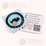 tarjetas de presentacion cuadradas dado 879837567