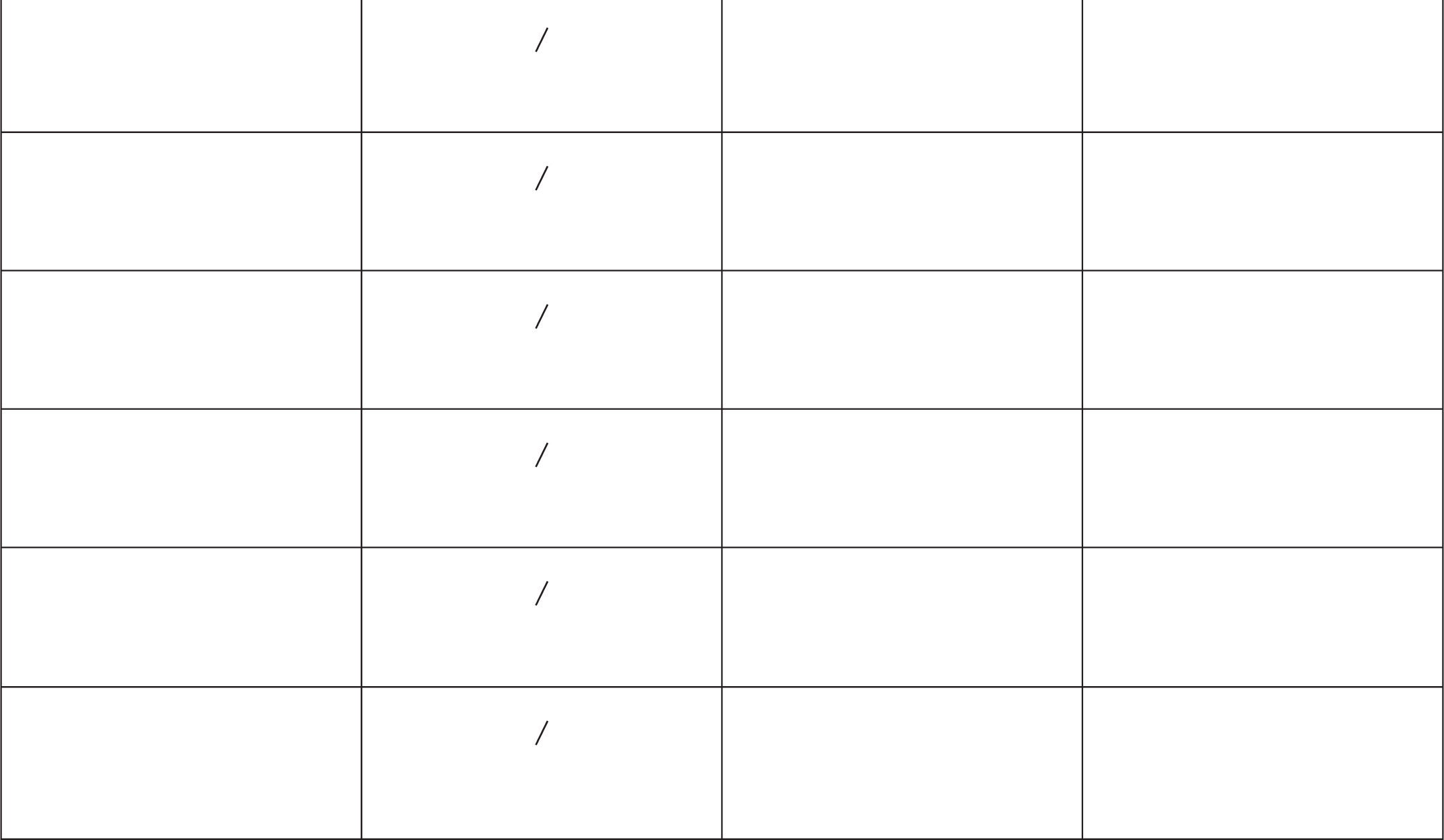 Additional Worksheets