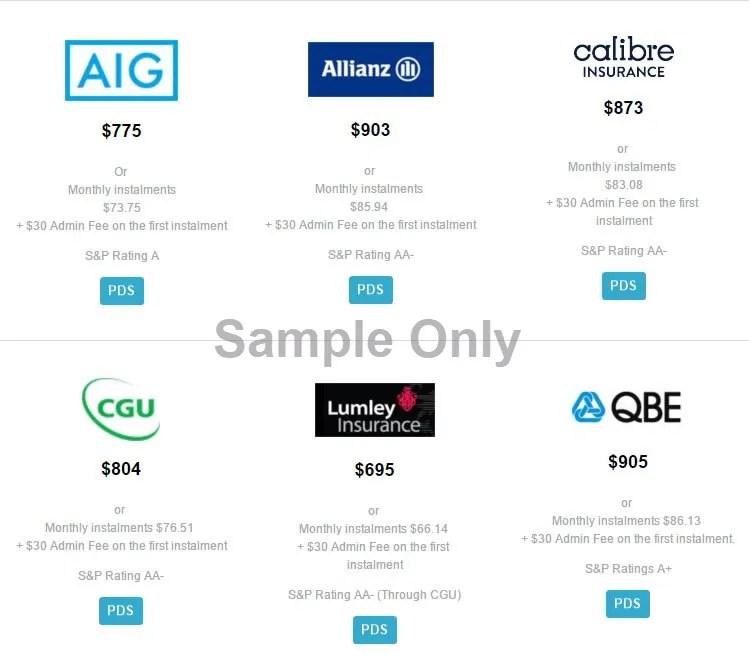 Compare Insurers