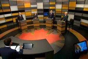 The Canadian leaders' debate in 2011. Courtesy Broadcast Media Consortium,