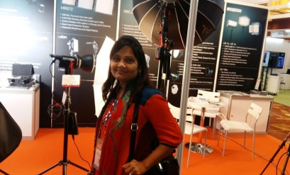 Sharmin at Media Corp. Image: Sharmin Nigar